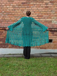 Gorgeous Lacy Crochet Duster: free pattern