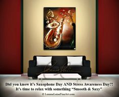 """Smooth & Saxy"" by wine artist © Leanne Laine Fine Art #wineart #winepainting"