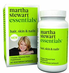 Martha Stewart Essentials Hair Skin and Nails Supplement 60 Vegetarian Capsules *** Want to know more, click on the image.