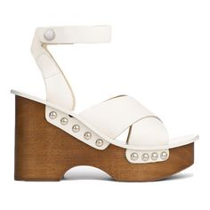 Rag & Bone Hester Wedge Sandal ($475) ❤ liked on Polyvore featuring shoes, sandals, accessories, home, women's, criss cross sandals, platform sandals, ankle strap wedge sandals, chunky platform sandals and ankle strap platform sandals