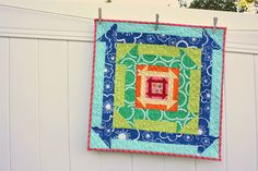 Diary of a Quilter - a quilt blog: Nested Churn Dash block and quilt-along
