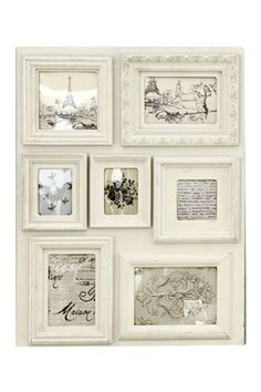 For a shabby chic French feel pick up this decorative cream collage from Next for £20. Suitable for 7 images, 3.5 x 2.5, 3 x 3, 4 x 4,6 x 4 and 7 x 5. French inspired artwork included, but can be removed to insert your own photos if you so wish!