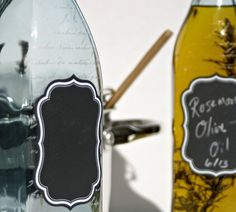 Chalk board label spray, Olive Oil Bottle  Infuse your own flavors in this by ScissorMill, $22.00