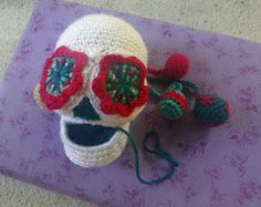 'LOLing Percie,' my next SsS design is well underway! Pattern will soon be available in My Etsy Shop . Sugar Skull Design, Sugar Skulls, Crochet Hats, Etsy Shop, Embroidery, Quilts, Stitch, Pattern, Fabric