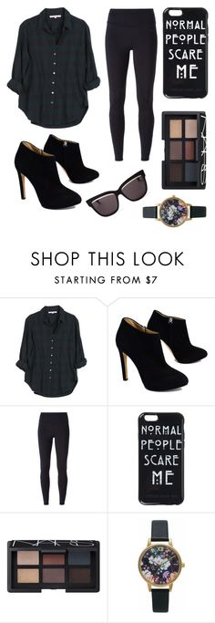 """""""Street style chic : Chill outfit"""" by pavetra22 ❤ liked on Polyvore featuring Xirena, Giuseppe Zanotti, NIKE, NARS Cosmetics, Olivia Burton and Christian Dior"""