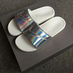 Nike Simple the Bright Slide Sandals from charmvip. #nike #bright #sonice #women.