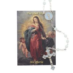 This colorful rosary is a thoughtful gift of prayer for any young boy preparing to receive the Blessed Sacrament.