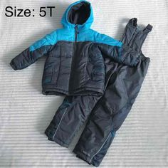 Boys Jacket & Ski Pant Set in Size: Size: Color: Grey / Light Blue Jacket and Ski pants Pacifist Trail / Outdoor Wear Purchased from Babies R Us Condition: New without Tags. Sell Things, Boy Toddler, Outdoor Wear, Ski Pants, Babies R Us, Skiing, Infant, Bomber Jacket, Winter Jackets