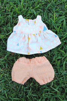 "Our Nesting Ground: 12"" Baby Doll Dress and Bloomers- Free Pattern!"
