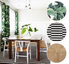 Inspire-se no clima tropical Leaf Curtains, Curtains Living, Estilo Tropical, Ideas Geniales, Tropical Decor, Tropical Curtains, Tropical Quilts, Tropical Design, Home Living