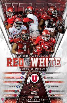 Utah Spring 2013 Football Poster