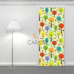 Παιδικό Αυτοκόλλητο Πόρτας με δέντρα Curtains, Shower, Bathroom, Prints, Rain Shower Heads, Washroom, Blinds, Full Bath, Showers