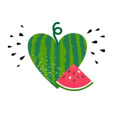 watermelon isolated on white background. Summer fruit whole and sliced. Red slice with seeds. Icon and logo design. Cartoon Styles, Cute Cartoon, Watermelon Illustration, Icon Design, Logo Design, Fruit Logo, Watermelon Art, Logo Shapes, Drawings
