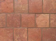 Square Dark 5 3/4 X 5 3/4 X 5/8. Reclaimed European Terra Cotta from Country Floors. #terracotta