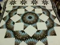 Broken Star Quilt, with strong center and negative space