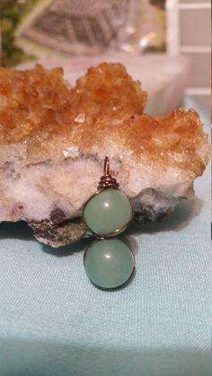 Wire wrapped green aventurine at https://www.etsy.com/listing/265165255/green-aventurine-wire-wrapped-pendant