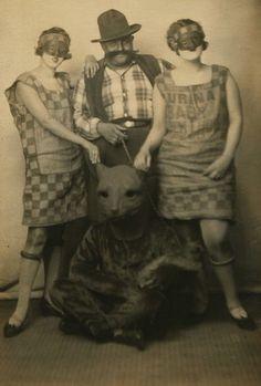 "maudelynn: "" A Halloween portrait! c.1926 """
