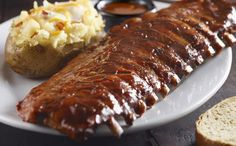 Grilled Baby Back Ribs with Bourbon BBQ Sauce/Longhorn Steakhouse