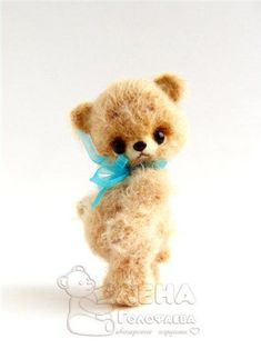 Вязаный мини-медведь. Мастер-класс