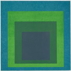 felixinclusis: art-history: Josef Albers, Homage to the Square: Soft Spoken, Oil on Masonite, 48 x 48 in. Metropolitan Museum of Art, New York Josef Albers, Anni Albers, Op Art, Abstract Expressionism, Abstract Art, Modern Art, Contemporary Art, Hirshhorn Museum, Soft Spoken