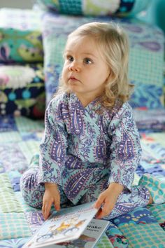 Amy Butler's Love Fabrics with kid's pajamas from Little Stitches