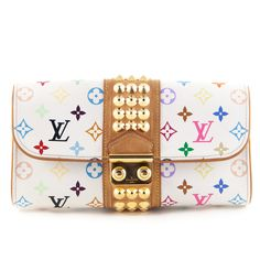 Louis Vuitton Courtney Multicolor Clutch | LOVEthatBAG - Pre-Owned Authentic Designer Handbags sold on consignment