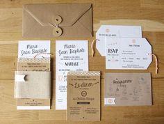 #Papeterie #Hochzeit #Einladungen: Natur & weiß