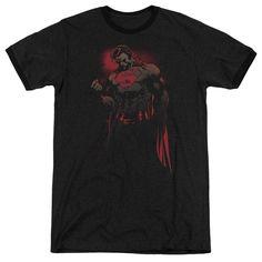 Superman Red Son Black Ringer T-Shirt