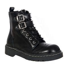 Womens WINGTIP Combat Boots