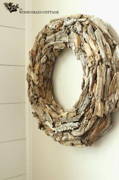 { driftwood wreath } diy coastal wreath with tutorial