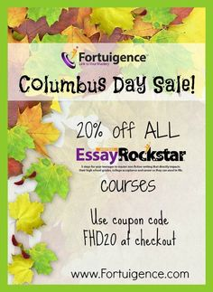 98 best homeschool deals limited time images on pinterest in 2018 columbus day sale 20 off all writing courses with fortuigence coupon code fandeluxe Choice Image