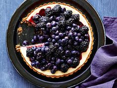 Black and Blue Cheesecake Tart