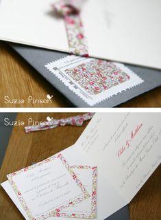 Faire-part de mariage – Création sur-mesure Suzie Pinson Accessoires pour réussir votre mariage sur http://yesidomariage.com
