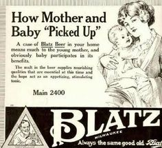 Politically Incorrect Advertising With Old Ads. That's right, have a beer mom, and then breast feed your little one, you'll both have a great nap. too bad dad's dinner will be a little late.oh well