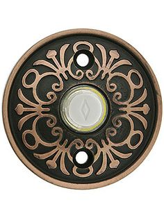 Lancaster Door Bell Button In Forged Brass | House of Antique Hardware