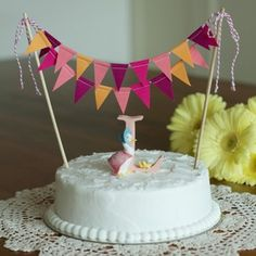 Cake Bunting Flags -  Blush - ready to ship