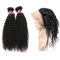 Peruvian Hairw Weave 360 Lace Frontal Closure With 2 Bundles Kinky Curly Remy Human Hair Weave Best Human Hair Extensions For Black Women #hairbundles #besthairextensions #kinkycurlyweave