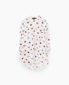 Image 8 of PRINTED BLOUSE from Zara