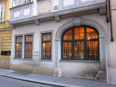 Mozart's House in Vienna Austria. We only walked by.. I think it was closed when we were there.