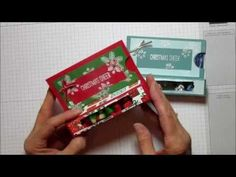 Christmas Cheer Treat/ Gift Card Box - YouTube