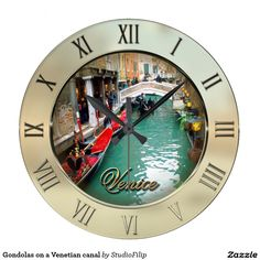 Gondolas on a Venetian canal Clock | 60 OFF Clocks | Up to 50% OFF everything else | Use code CRAZYWEEKEND during checkout. Offer is valid through November 29, 2015 11:59PM PT.