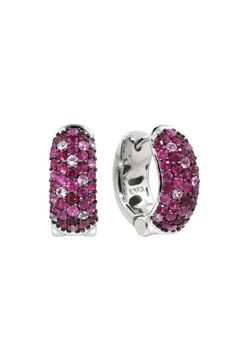 Balissima Splash Ruby and Pink Sapphire Earrings from Effy Jewelry.