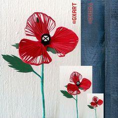 Quilled Poppy Flower