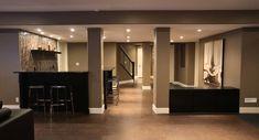 64 best basement remodels with support columns images basement rh pinterest com