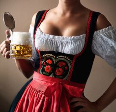 fuckyeahgermany:    It's a dirndl! I want one of these so badly.. If i get one i'll be eternally greatful.