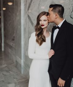modest wedding dress with long sleeves from alta moda bridal (modest bridal gowns) photo by @alaynag.clark