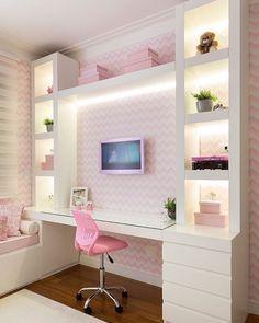 Teen girl bedroom ideas – Home Decor Designs Cute Bedroom Ideas, Girl Bedroom Designs, Room Ideas For Girls, Girls Bedroom Colors, Teen Room Designs, Awesome Bedrooms, Trendy Bedroom, Dream Rooms, Dream Bedroom