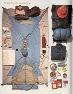 Things to take when you go camping