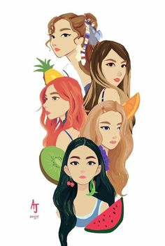 im a Mexican kpop fanartist and I love drawing girls 💕 Kpop Drawings, Cute Drawings, Seulgi, Red Velvet, Good Girl, Kpop Fanart, Art Sketches, Art Inspo, Kpop Girls