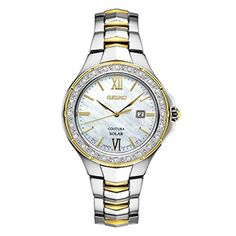 Seiko USA Coutura / SUT240 / Powered by light / No battery change required / 24 Diamonds with a mother-of-pearl dial